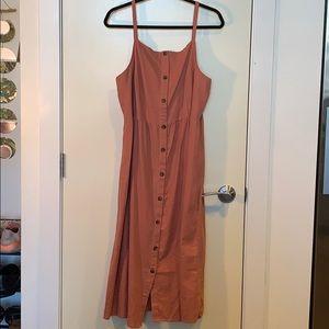 Never worn Coral button midi dress